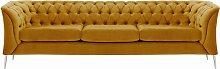 Chesterfield Modern 3 Seater Sofa-Velluto 8-chrome