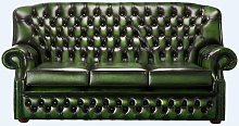 Chesterfield Monks 3 Seater Sofa Antique Green