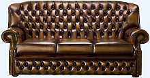 Chesterfield Monks 3 Seater Sofa Antique Tan