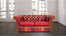 Chesterfield Patchwork Old English 2 Seater Settee