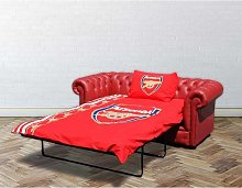 Chesterfield Red Leather Arsenal Sofabed UK