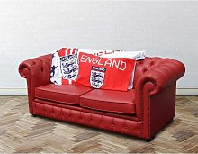 Chesterfield Red Leather England Sofabed UK