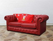 Chesterfield Red Leather Liverpool Sofabed UK