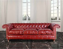 Chesterfield Rochester 3 Seater Leather Sofa UK