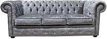 Chesterfield Silver Velvet Sofa