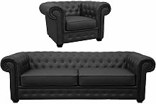 Chesterfield Style Venus Sofa 3 Seater 2 Seater