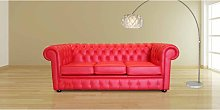 Chesterfield Thomas 3 Seater Settee Poppy Red