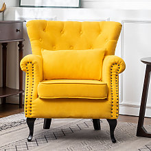 Chesterfield Tub Chair Armchair With Cushion,