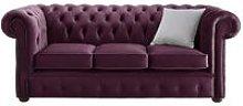 Chesterfield Velvet Fabric Sofa Malta Boysenberry
