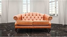 Chesterfield Victoria 2 Seater Leather Sofa Settee