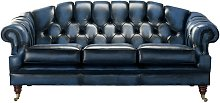 Chesterfield Victoria 3 Seater Antique Blue