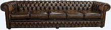Chesterfield Winchester 5 Seater Settee Antique