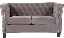 Chesterfield York 2 Seater Flat Pack Sofa Grey