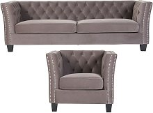 Chesterfield York 3+1 Seater Flat Pack Sofa Suite