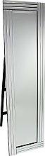 Cheval Triple Bar Floor Standing Mirror in Silver