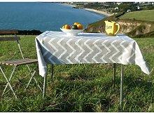 Chevron 100% Cotton Tablecloth Fleur De Soleil