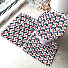 Chevron Bathmat,Geometric Pattern with Colorful