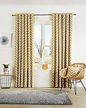 Chevron Stripes Pattern Luxury Curtain Pairs Fully