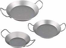CHG Iron Pans Economy Set, 3-Piece, Silver, 3 Units