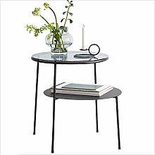 CHGDFQ Mini Coffee Table Small Round Table Sofa