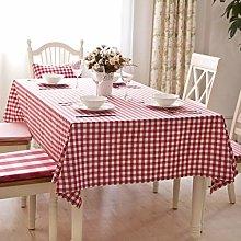 CHGDFQ Plaid Tablecloth Rectangular Polyester