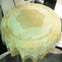 CHGDFQ PVC Round Tablecloth For Table Decor
