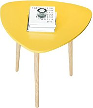 CHGDFQ Wooden Sofa Side Table Yellow Coffee Table