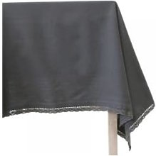 Chic Antique - Dark Gray Cotton Tablecloth with