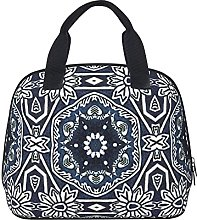 Chic Antique Dutch Delfts Blue Floral Pattern