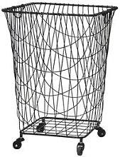 Chic Antique - Large Wire Laundry Basket on Wheels