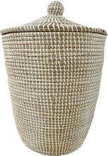 Chic Antique - White Ali Baba Storage Basket