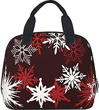 Chic Christmas Snowflakes Burgundy and White