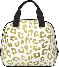 Chic Gold Glam Leopard Waterproof Insulated Lunch