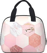 Chic Pink Marble Geometric Pattern Waterproof