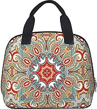 Chic Retro Red Turquoise Teal Kaleidoscope Pattern