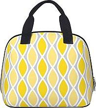 Chic Yellow and Gray Trellis Pattern Waterproof