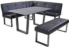Chicago 160 Cm Glass Top Dining Table With Sofa
