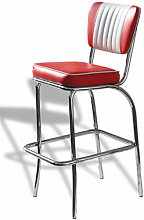 Chicago Bar Stool Dusty Rose Pink