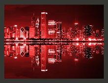 Chicago in Dark Red Lights 2.70m x 350cm Wallpaper