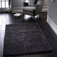 Chicago New Grey Polyester Rug by Origins