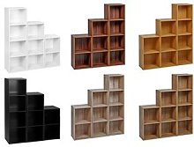 Chicago Wooden Bookcase: Two-Tier/Black