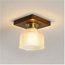 CHICAI Mini Chandelier Lighting with Wooden Base