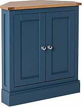 Chichester Blue Corner Cupboard Cabinet   Roseland