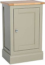 Chichester Green Mini Cupboard Cabinet with Oak