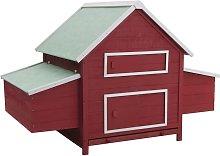 Chicken Coop Red 157x97x110 cm Wood - Red - Vidaxl
