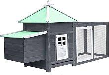 Chicken Coop with Nest Box Grey 193x68x104 cm