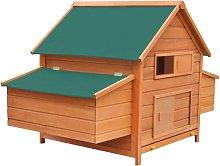 Chicken Coop Wood 157x97x110 cm - Brown - Vidaxl