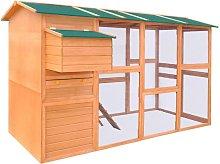 Chicken Coop Wood 295x163x170 cm - Brown - Vidaxl