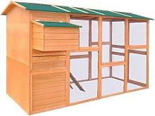 Chicken Coop Wood 295x163x170 cm - Hommoo