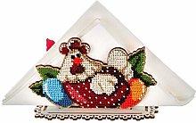 Chicken Egg Hen Napkin Holder Beaded Easter DIY